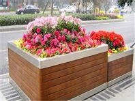 防腐木制花箱,户外花箱,景观花箱